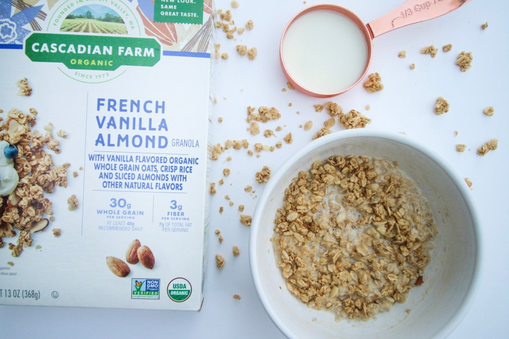 Productivity hacks that'll get you through your weekday morning, plus an easy breakfast option with Cascadian Farm that won't slow you down