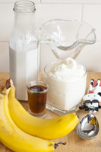 Coconut banana maple froyo ingredients