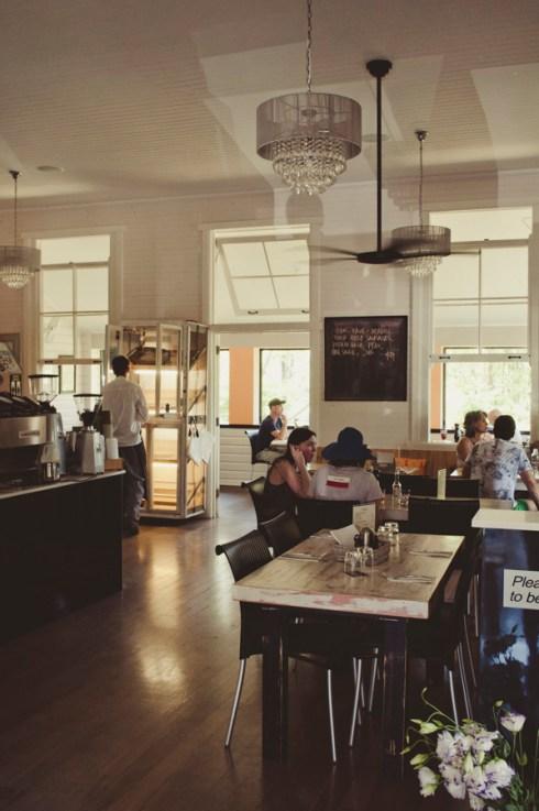 Inside Lilliana's Cafe at Possum Creek.