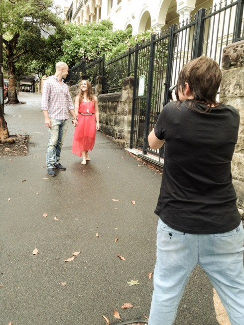 eharmony photo shoot with Kirsten Cox