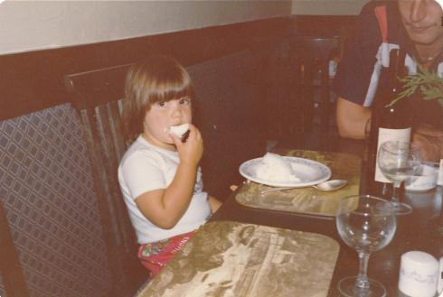 How it all began. Note my wine glass and food all over my face.  *not the actual photo I'm referring to in post