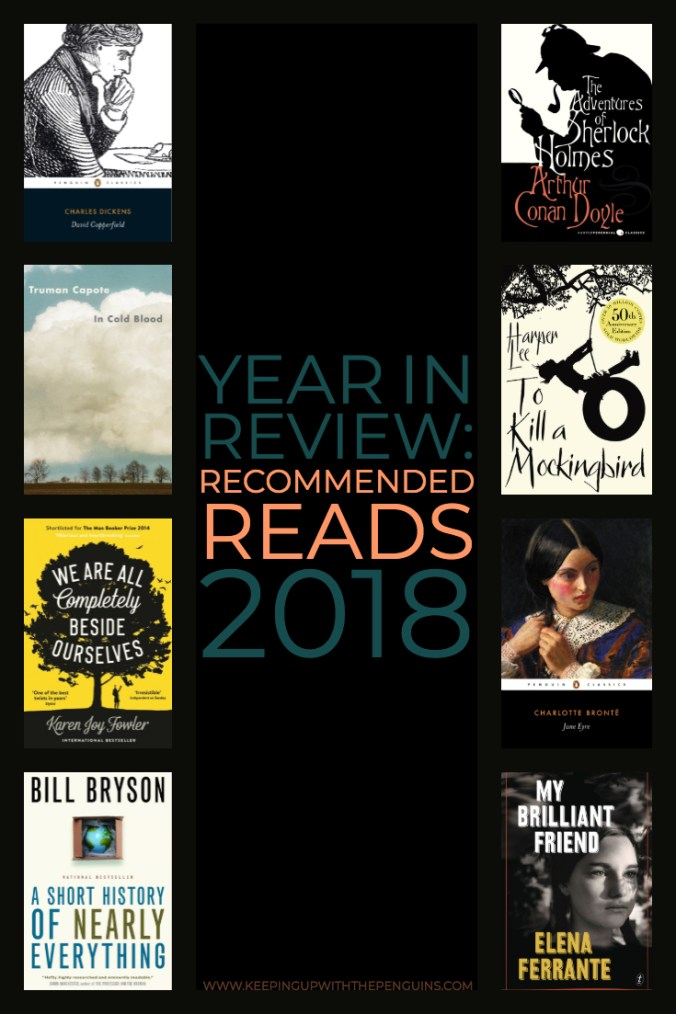 Year In Review - Recommended Reads - David Copperfield, In Cold Blood, Jane Eyre, To Kill A Mockingbird, and more - Keeping Up With The Penguins