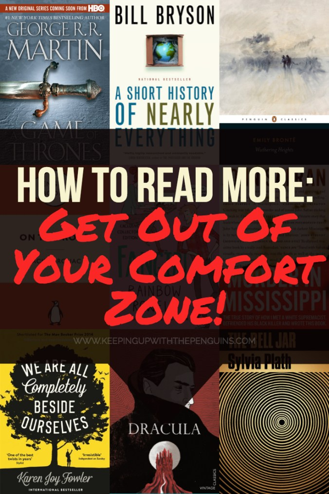 How To Read More Outside Your Comfort Zone - Keeping Up With The Penguins
