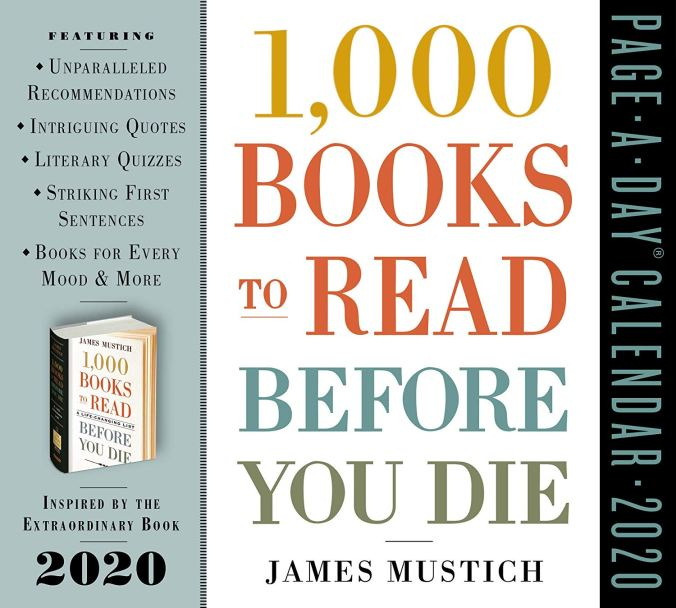 1000 Books To Read Before You Die 2020 Calendar - Keeping Up With The Penguins