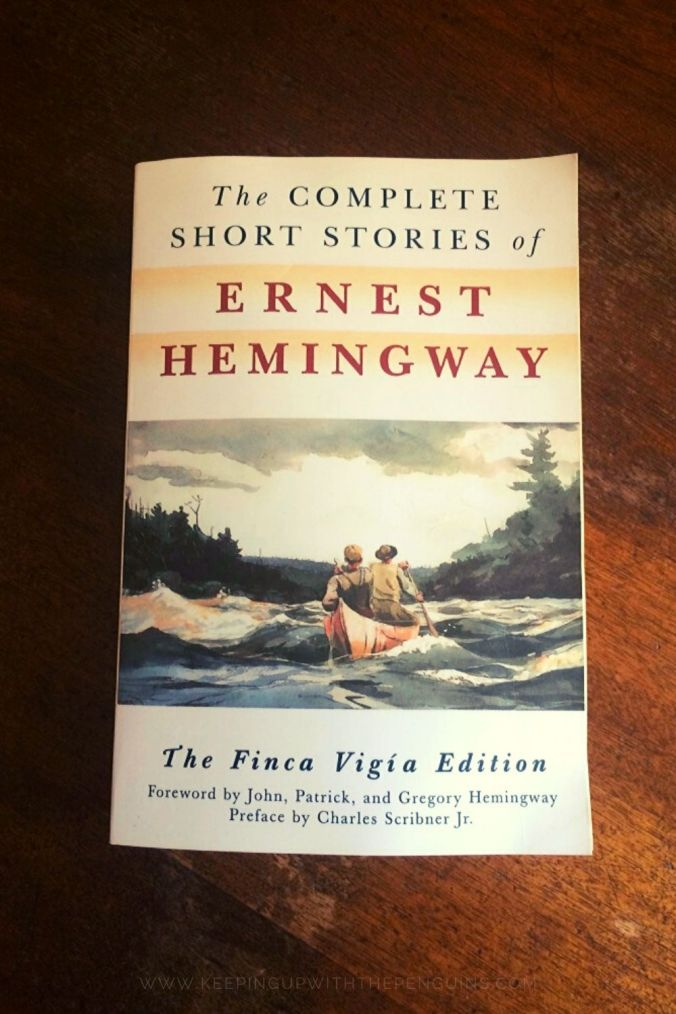 The Complete Short Stories Of Ernest Hemingway - Book Laid on Wooden Table - Keeping Up With The Penguins