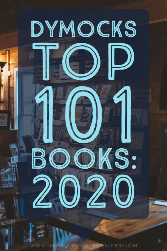 Dymocks Top 101 Books For 2020 - Text Overlaid on Image of Book Store - Keeping Up With The Penguins