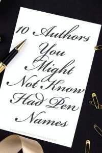 10 Authors Who Used Pen Names - Keeping Up With The Penguins