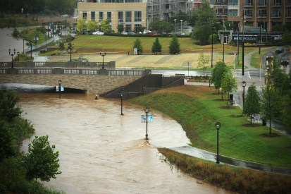 Greenways help with flooding from heavy rains. Photo: Nancy Pierce