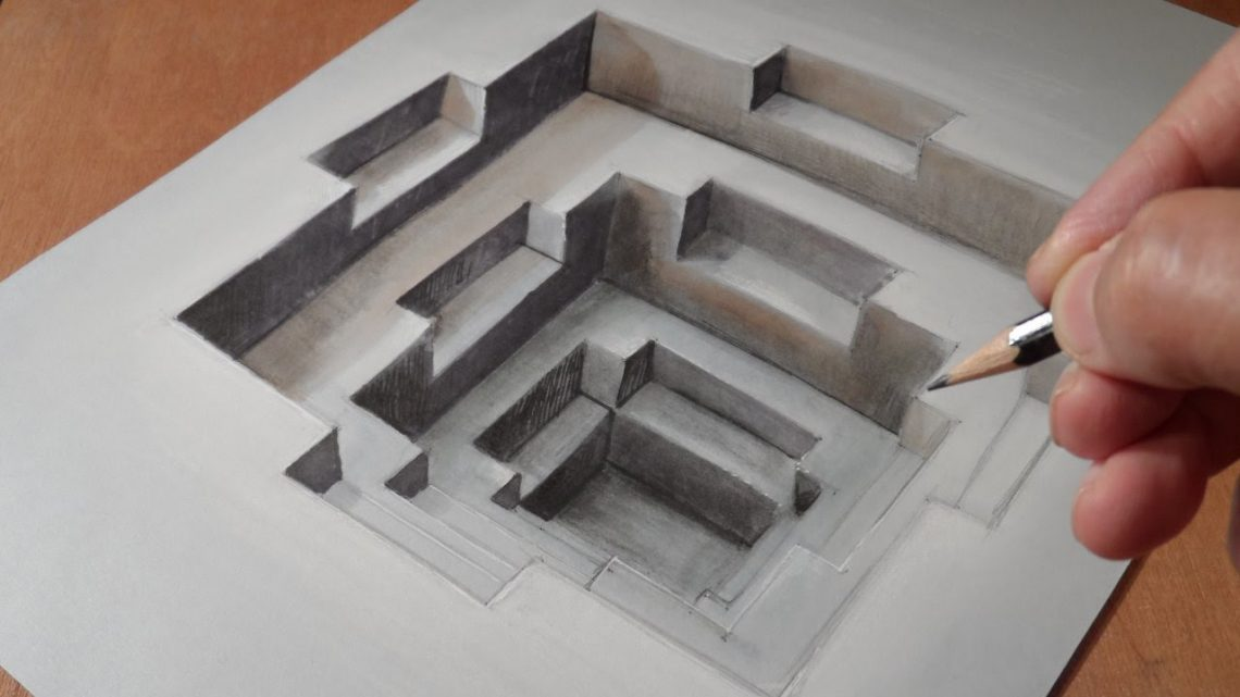 optical illusion 3d drawings