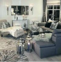 White And Silver Living Room Designs | www.myfamilyliving.com