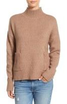 Love By Design Mock Neck Patch Pocket Pullover
