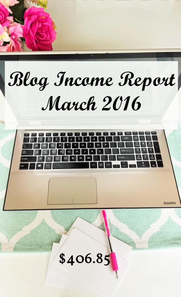 March Income Report