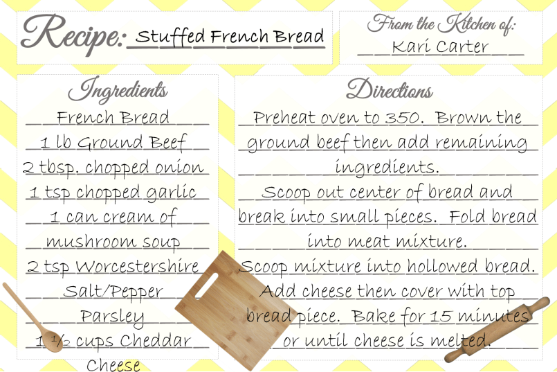 Stuffed French Bread Recipe