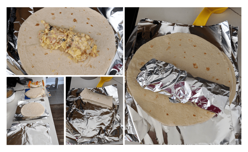 Wrapping Breakfast Burritos