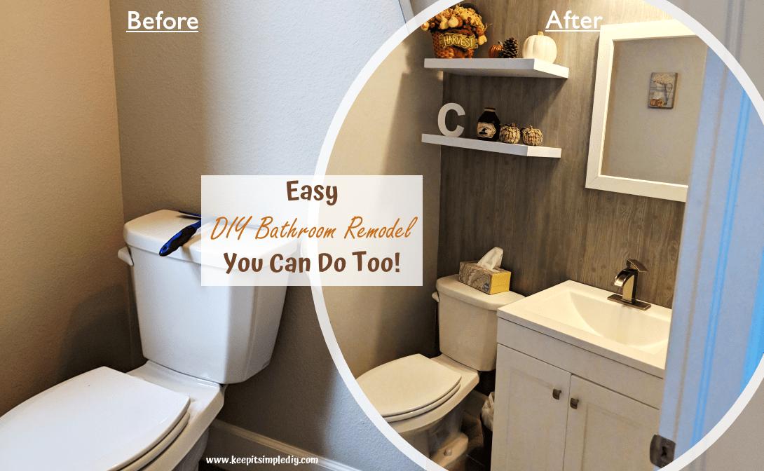 DIY Bathroom Remodel Featured
