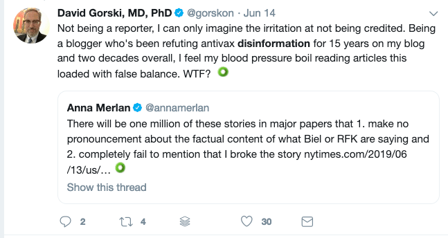 David Gorski is one of the social media doctors who is fighting medical misinformation who is active on Twitter.