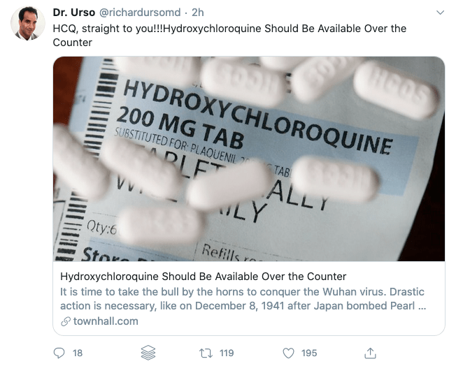 Hydroxychloroquine should not be available over the counter!