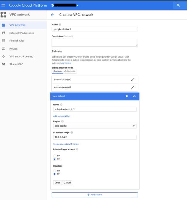 Creando VPC Global en Google Cloud