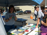 Kay Welch and Green Team members at the booth for the Mushroom Festival