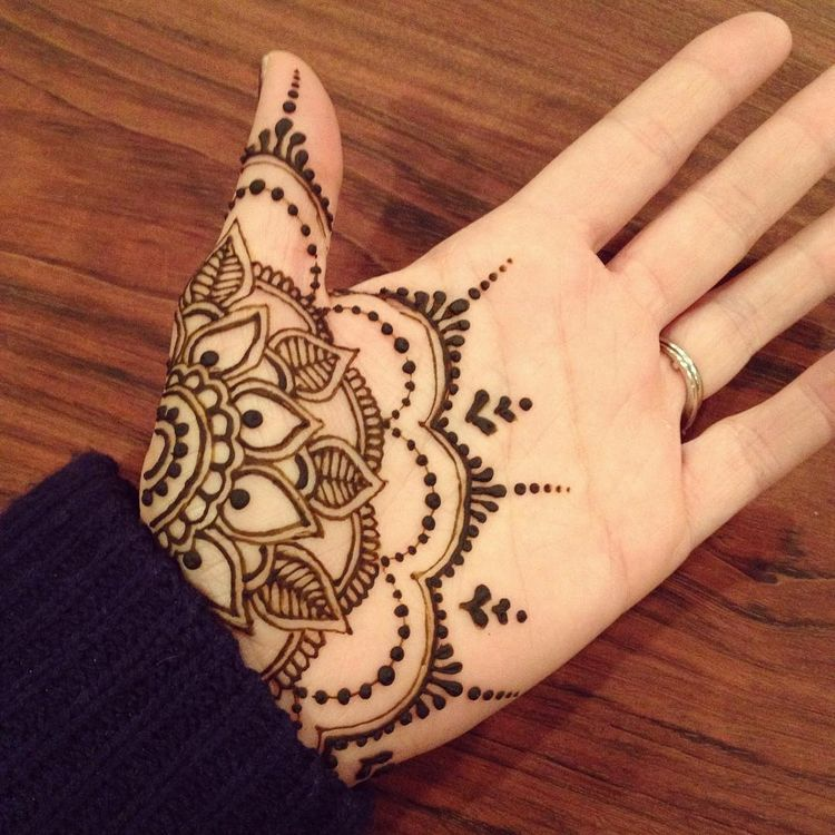 Mehandi Designs For Hands Front Side