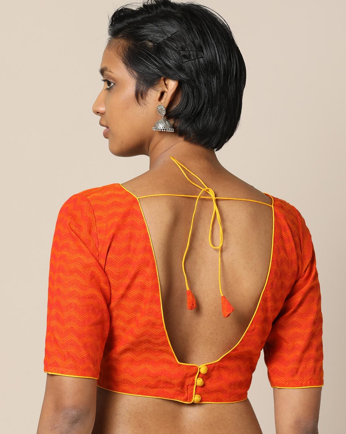 38 Simple and Stylish Blouse Back Neck Designs  Keep Me