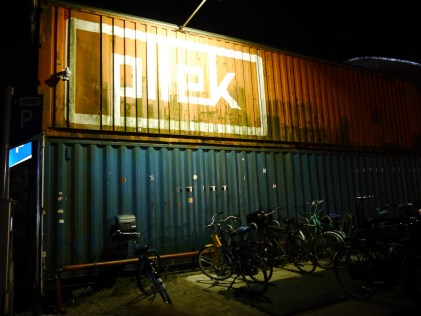 Restaurant made of shipping containers