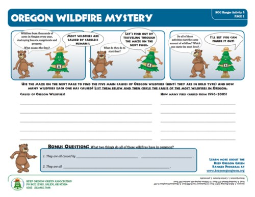 preview of Oregon Wildfire Mystery