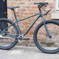 Surly Ogre - custom matt black built with Rohloff hub. Lush!