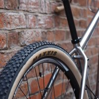 Custom Salsa Fargo in Titanium with Maxxis tanwall tyres and wheels build with Hope Hoops