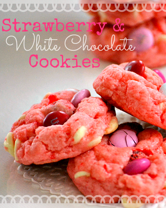Strawberry And White Chocolate Cake Mix Cookies Keeprecipes Your