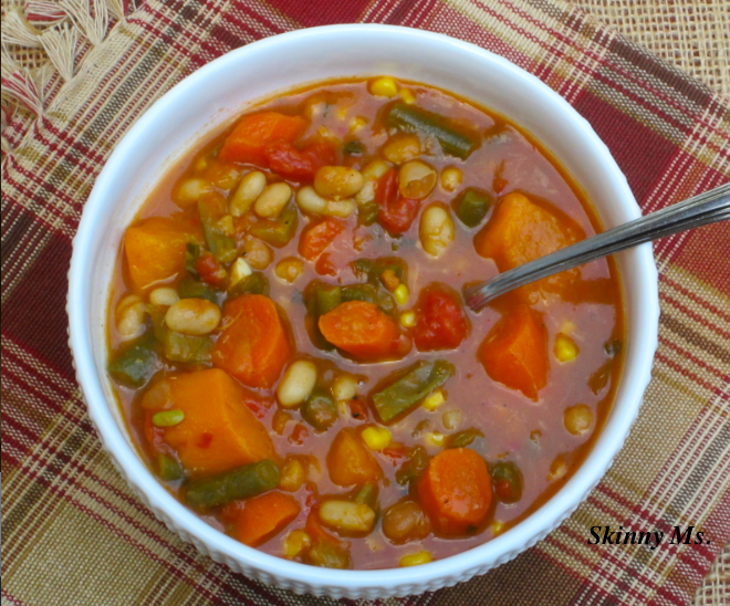 Slow Cooker Hearty Vegetable and Bean Soup   KeepRecipes