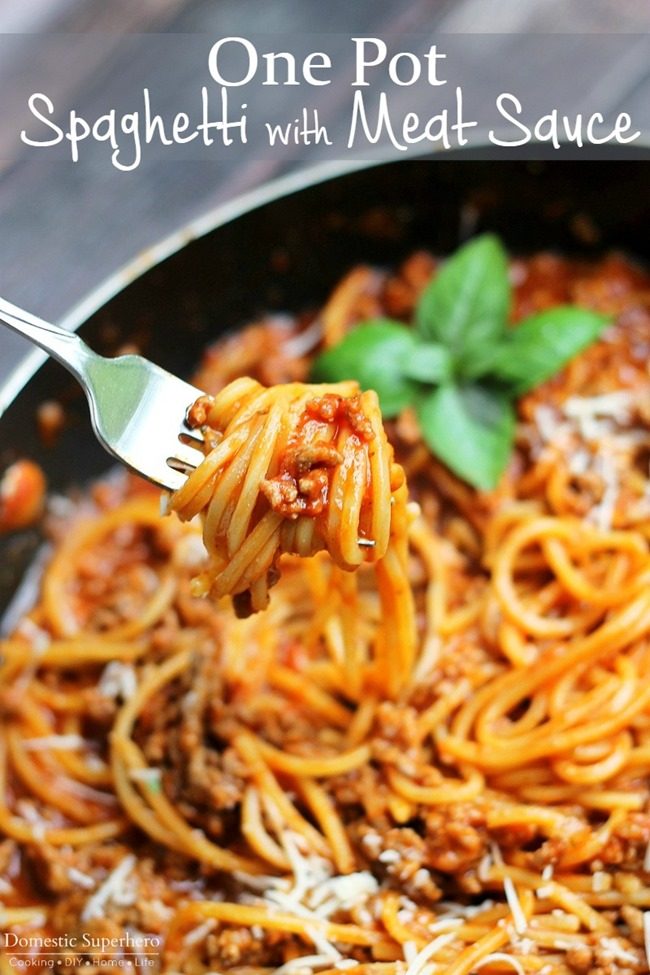 One Pot Spaghetti with Meat Sauce | KeepRecipes: Your