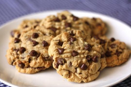 ReesesStuffed Peanut Butter Chocolate Chip Cookies
