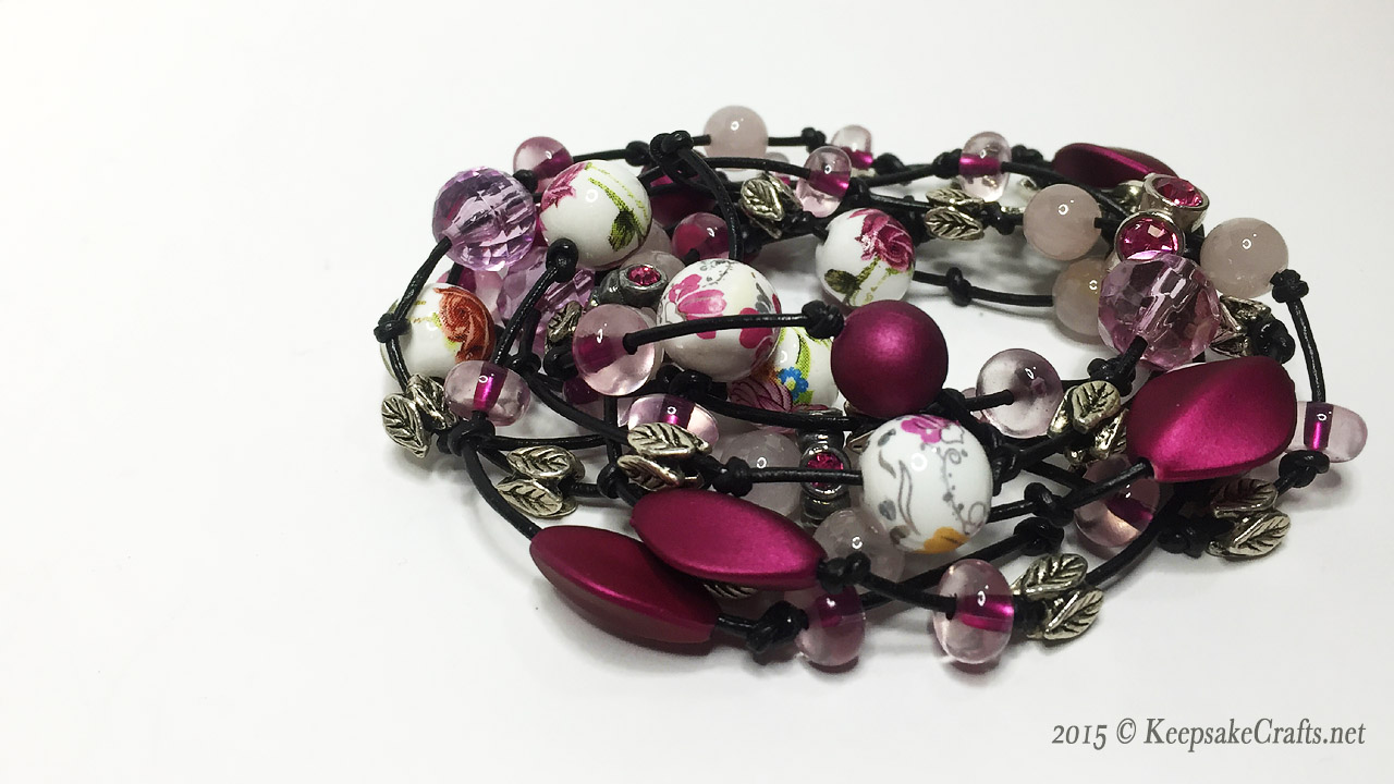 Beaded Leather Wrap Bracelet Video Tutorial