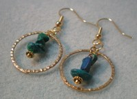 The gallery for --> Beaded Dangle Earrings