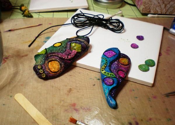 Polymer Clay Sculpture - 2 3 Keepsake Crafts