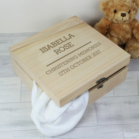 personalised christening large wooden