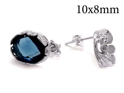 10x8mm sterling silver earrings
