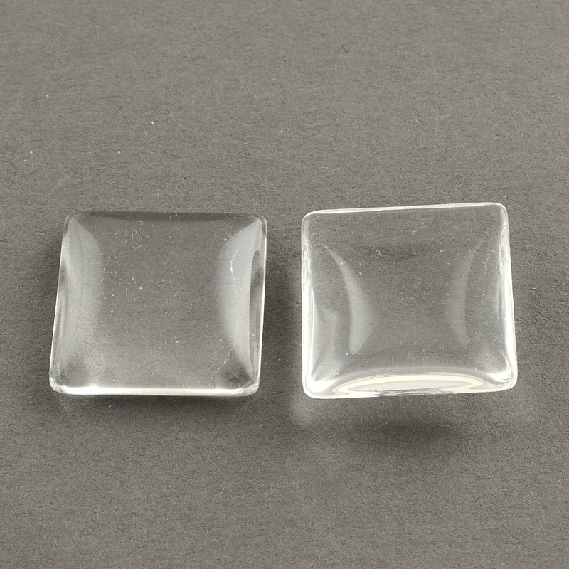 square cabochons example of resin removed from mould