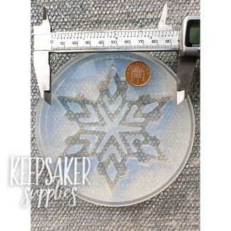 snowflake ornament mould - water clear silicone