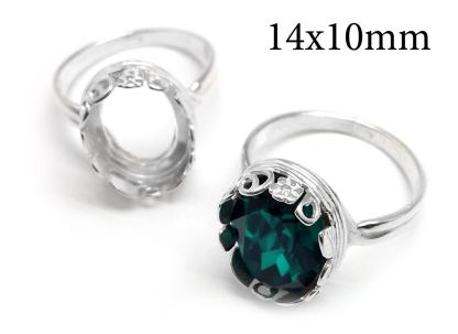 14x10mm ring setting