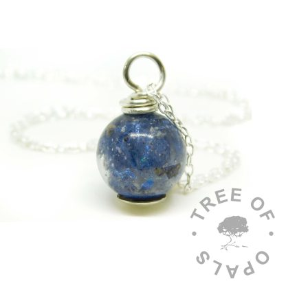 Aegean blue ashes pearl necklace