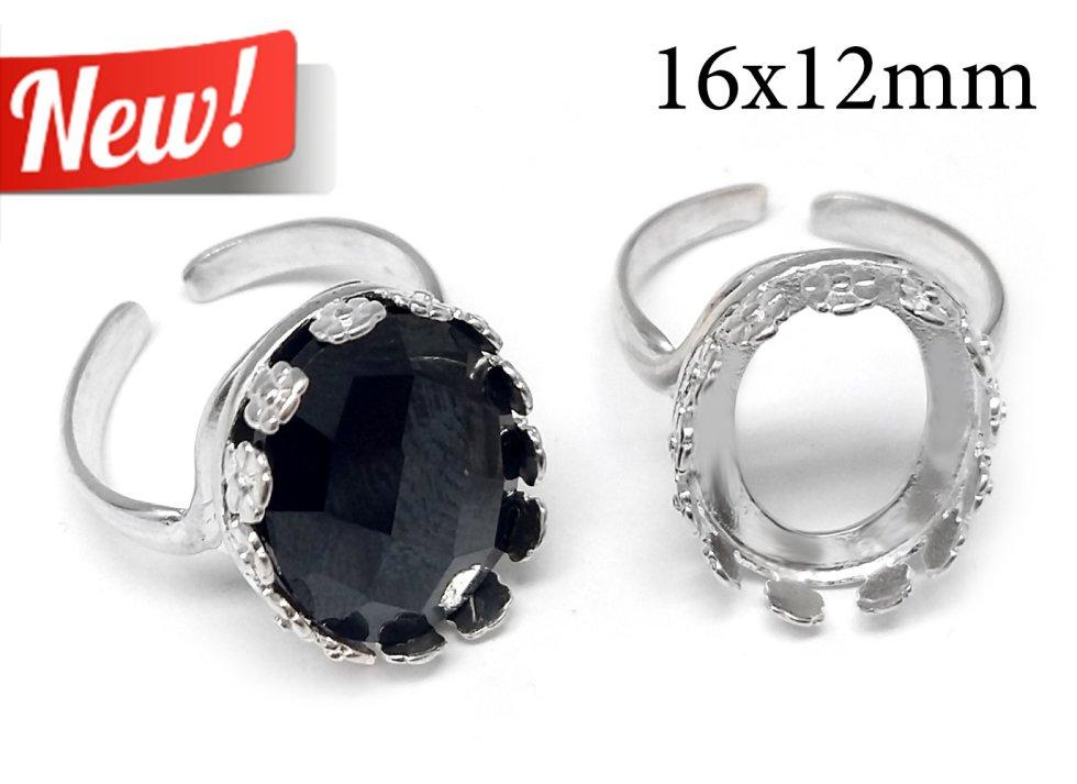 16x12mm ring setting