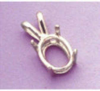 oval silver necklace setting