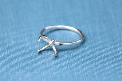 sterling silver claw ring setting from ArmoredSupplyCo on Etsy