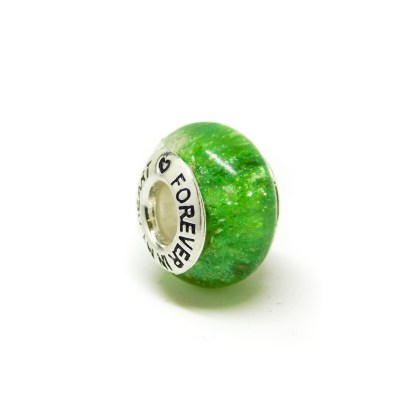 green ashes jewellery charm, forever in my heart core