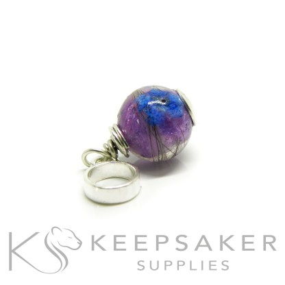 hair sphere forget me not and Orchid Purple Resin Sparkle Mix