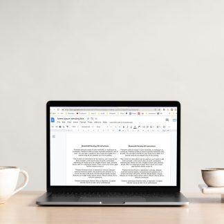 Sending Kit Instruction Templates Laptop