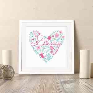 Personalised Name Heart