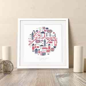 Personalised London Nursery Print
